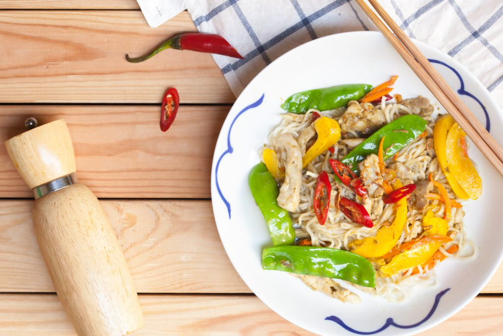 Green Curry Stir Fry with Noodles